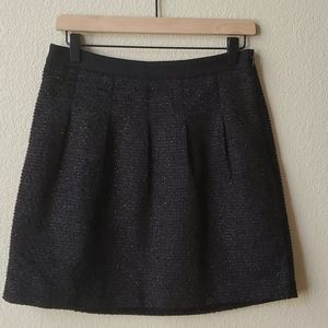LOFT Black shimmery textured fitted mini s…